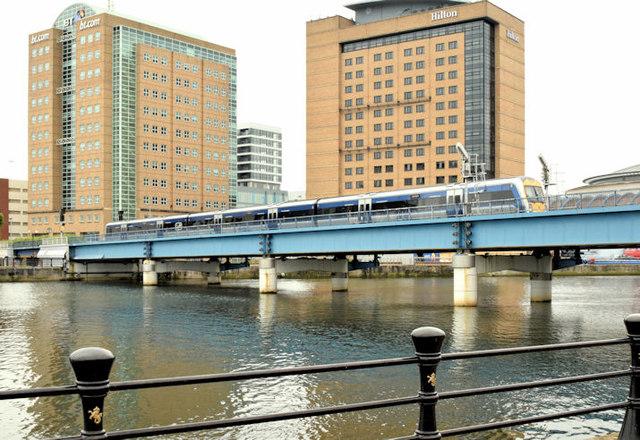 The Lagan railway bridge, Belfast (May 2014)