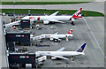 TQ0876 : TAM at Heathrow from the air by Thomas Nugent