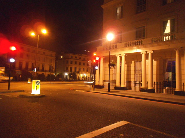 Park Crescent at the junction of Marylebone Road