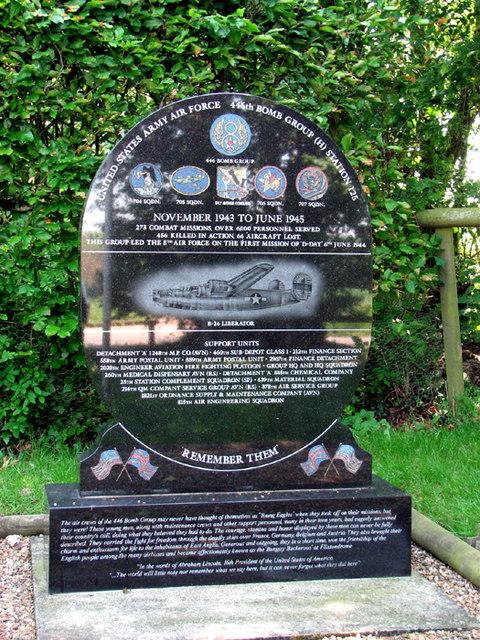 RAF Bungay (USAAF Station 125) - Memorial stone