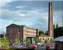 SO8276 : Slingfield Mill on Weavers Wharf in Kidderminster, Worcestershire by Roger  Kidd