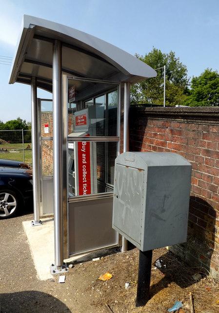 Railway Ticket Machine & Royal Mail Dump Box