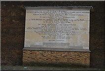 TQ3780 : Commemorative Stone, West India Docks by N Chadwick