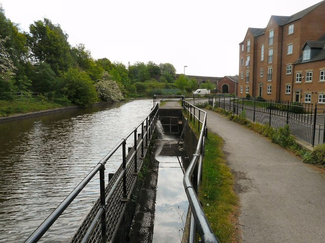 Sluice gate on Peak Forest Canal