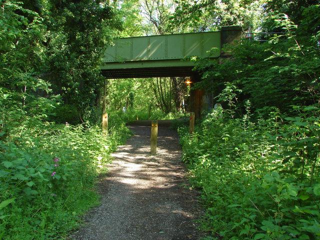 Road bridge over  cycle path