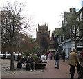 SJ6552 : Church and town square, Nantwich-Cheshire by Martin Richard Phelan