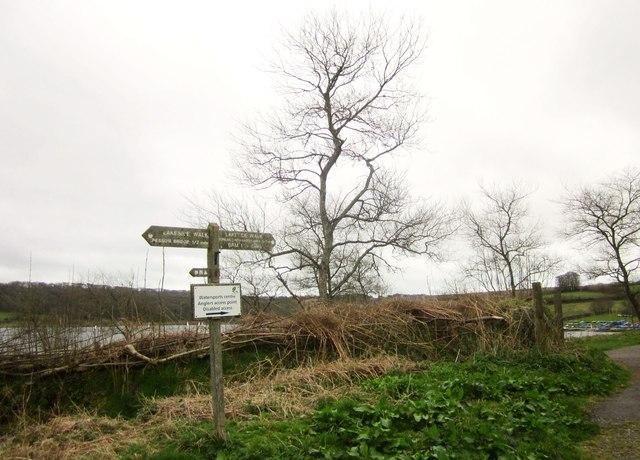 Signpost, Wimbleball Lake