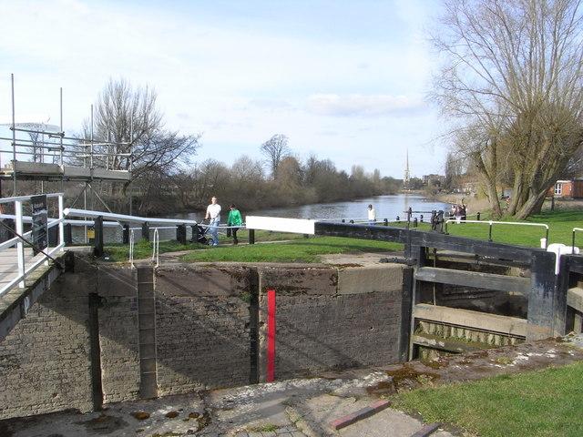 Worcester & Birmingham Canal - Diglis Bottom Lock
