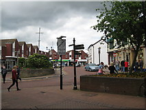 SJ6552 : From Oatmarket into Swinemarket, Nantwich-Cheshire by Martin Richard Phelan