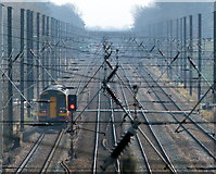 TF0611 : View south east along the East Coast Main Line by Mat Fascione