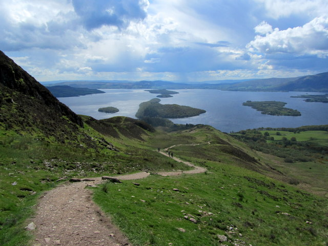 West Highland Way descending Conic Hill