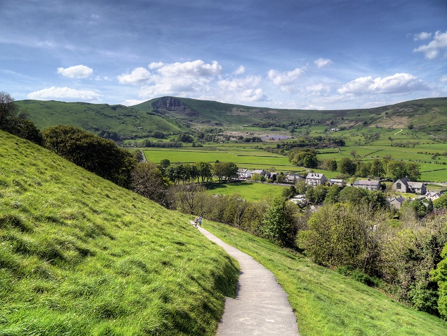 View towards Mam Tor from Castle Hill