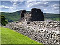 SK1482 : Peveril Castle, Curtain Wall by David Dixon