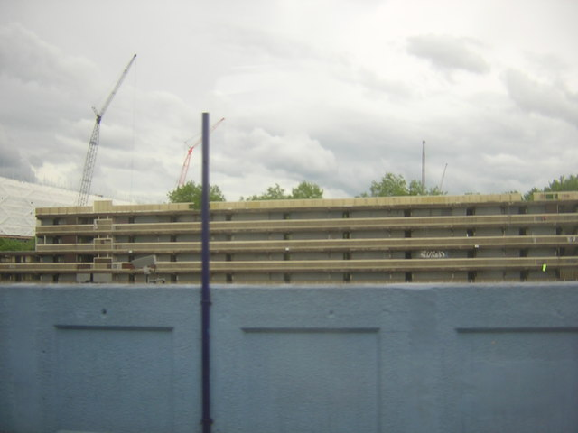 The Heygate Estate in the process of demolition, from Elephant & Castle station