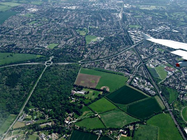 Maidenhead from the air