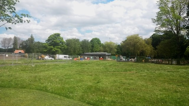 Looking towards the cafe in Exhibition Park, Newcastle