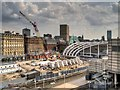 SJ8499 : Manchester Victoria Station Redevelopment Work (May 2014) by David Dixon