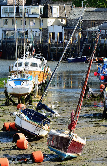 Looe Harbour at low tide