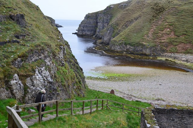 Path down to Smoo Cave, Durness