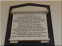 SU4774 : St Mary, Chieveley: memorial (g) by Basher Eyre