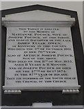 SU4774 : St Mary, Chieveley: memorial (m) by Basher Eyre