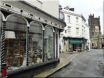 SX3384 : Shop on the corner of Church Street and High Street, Launceston by David Gearing