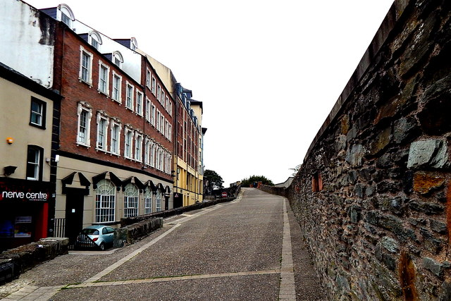 Derry - Medieval Walled City - Nerve Centre, Magazine Street & Top of the Wall