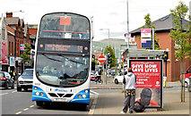 J3674 : Holywood Arches bus stop (EWAY), Belfast - May 2014(2) by Albert Bridge