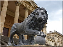 SP6737 : A lion in front of the south side of Stowe School by pam fray