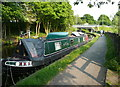 SE0723 : Barge moored near Sterne Mill Bridge by Humphrey Bolton