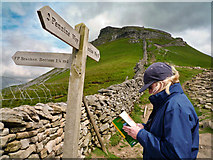 SD8372 : Which way now? Below Pen-y-ghent by Kim Fyson