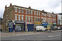 TQ3772 : Parade of shops, Bromley Road, London SE6 by David Kemp