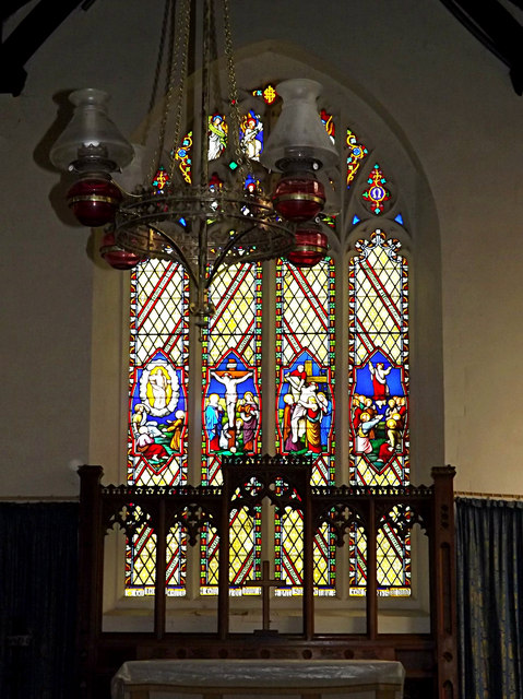 Stained Glass Window of St.Peter & St.Paul Church, Hoxne