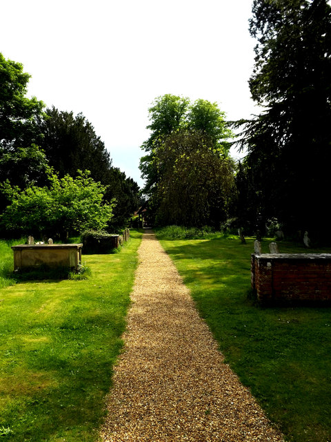 Path of St.Peter & St.Paul Church, Hoxne