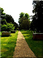 TM1877 : Path of St.Peter & St.Paul Church, Hoxne by Geographer