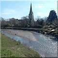 SN4006 : Mud island in the Gwendraeth Fach river, Kidwelly by Jaggery