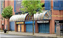 "J3474 : Former ""InShops"", Belfast (May 2014) by Albert Bridge"