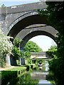 SJ9001 : Bridges over the canal near Oxley, Wolverhampton by Roger  Kidd
