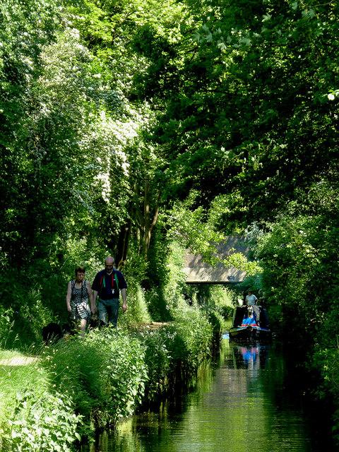 Narrow canal near Fordhouses, Wolverhampton