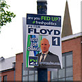 J5081 : 'NI 21' election poster, Bangor by Rossographer