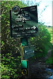 SK0167 : Footpath sign in North Staffordshire by John Winder