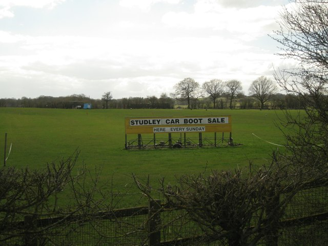Location of Studley car boot sale – every Sunday