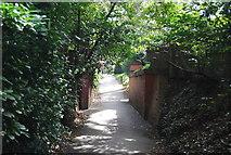 TQ5838 : Dismantled bridge, Upper Cumberland Walk by N Chadwick