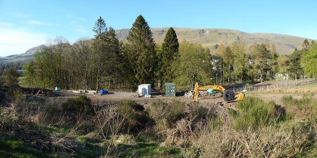 Construction at Strathblane