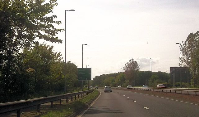 A78 west of Dutch House roundabout