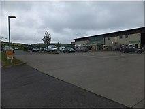 SX6095 : Mole Avon stores on the edge of Okehampton by David Smith