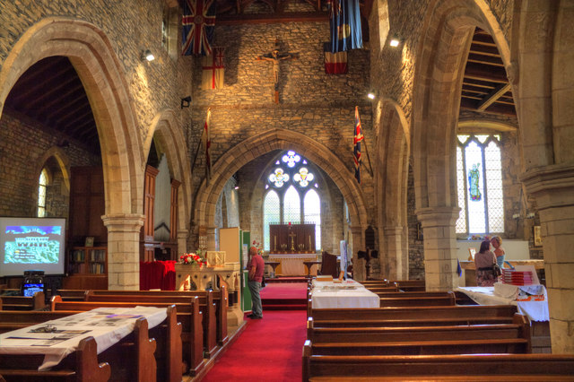 Interior, St Martin's church, Blyton