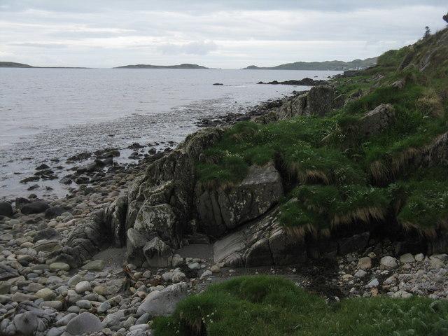 Rocky shore near Corra-ghoirtein
