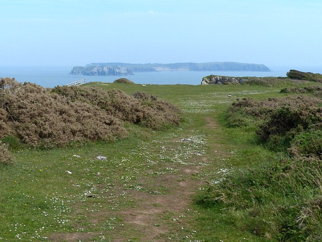 Looking from Lydstep Point towards Caldey Island