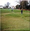 TL5438 : Saffron Walden Turf Maze in 1988 by Clint Mann